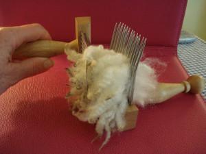 wool combing 003
